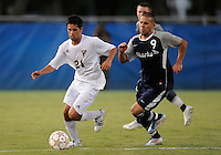 Florida International University men's soccer player Christopher Garces (21) plays against Nova University on August 26, 2011 at Miami, Florida. FIU won the game 2-0. .