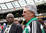 10 June 2007: Jack Warner (l), President of CONCACAF, with Justino Compean, president of the Federacion Mexicana de Futbol Asociacion. The Honduras Men's National Team defeated the National Team of Mexico 2-1 at Giants Stadium in East Rutherford, New Jersey in a first round game in the 2007 CONCACAF Gold Cup.