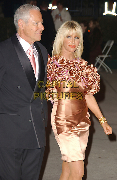SUZANNE SOMMERS & GUEST.The 2007 Vanity Fair Oscar Party Hosted by Graydon Carter held at Morton's, West Hollywood, California, USA, 25 February 2007..oscars half length .CAP/ADM/GB.©Gary Boas/AdMedia/Capital Pictures.