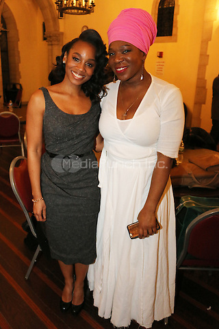NEW YORK, NY - JANUARY 18: Anika Noni Rose & India Arie backstage at MLK Day January 18, 2016 at Riverside Church in New York City. Credit: Walik Goshorn/MediaPunch