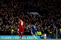 3rd March 2020; Stamford Bridge, London, England; English FA Cup Football, Chelsea versus Liverpool; Ross Barkley of Chelsea celebrates after he scores for 2-0 in the 64th minute