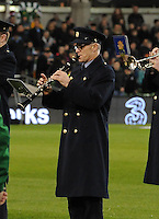 5th March 2014; A member of the Garda Band before the game. International Friendly, Republic of Ireland v Serbia, Aviva Stadium, Dublin. Picture credit: Tommy Grealy / actionshots.ie
