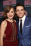Laura Osnes and Corey Cott attends the Broadway Opening Night After Party of 'Bandstand' at the Edison Ballroom on 4/26/2017 in New York City.