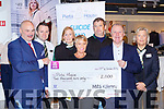 Marks and Spencers staff presented €2000 cheque to Pieta House in the store on Monday l-r: Paul Daly, Donal Casey, Annette Broderisck, Louise Thomas, Pat O'Connor, Con O'Connor Pieta House  and Maureen Whelan