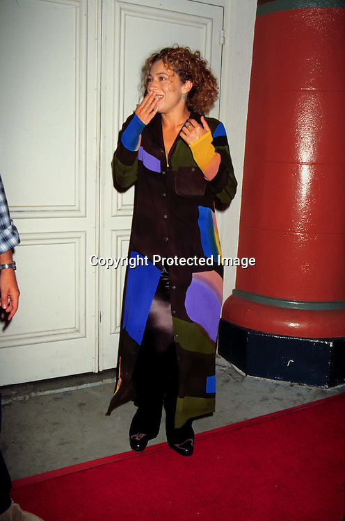 "©KATHY HUTCHINS/HUTCHINS.8/4/97 "" FULL   MONTY"" PREMIERE.ALEX KINGSTON"