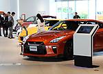 May 11, 2017, Yokohama, Japan - Customers check vehicles of Japanese automobile giant Nissan Motor at Nissan's showroom in Yokohama, suburban Tokyo on Thursday, May 11, 2017. Nissan said its operating profit was 742 billion yen, down 6.4 percent from previous year.   (Photo by Yoshio Tsunoda/AFLO) LwX -ytd-