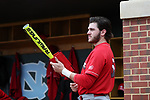 CHAPEL HILL, NC - FEBRUARY 21: Saint John's Jamie Galazin. The University of North Carolina Tar heels hosted the Saint John's University Red Storm on February 21, 2018, at Boshamer Stadium in Chapel Hill, NC in a Division I College Baseball game. St John's won the game 5-2.