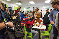 "Morgan Spurlock opens ""Holy Chicken,"" a faux fast food restaurant in Columbus, Ohio, where a documentary crew recorded his interaction with customers who thought they were dining at a new type of fast food restaurant. However, the entire location was designed to be part of his documentary highlighting the marketing of food that may not be as healthy as it is stated in advertisement, banners, and notices at the restaurant."