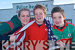 FUNDRAISING GOALS: Caitrin Griffin, Rory Mulvihill and Stephen Linnane (Jnr), Ballybunion members of the Beale GAA club who are fundraising for their Bord na nOg Pairc de Staic facilities in the town.   Copyright Kerry's Eye 2008