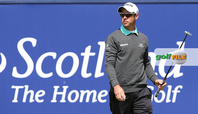 Jaco Van Zyl (RSA) completing the Final Round of the 2015 Aberdeen Asset Management Scottish Open, played at Gullane Golf Club, Gullane, East Lothian, Scotland. /12/07/2015/. Picture: Golffile | David Lloyd<br /> <br /> All photos usage must carry mandatory copyright credit (&copy; Golffile | David Lloyd)