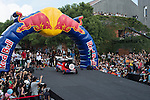 Competitors in action during the Red Bull Soapbox Taiwan on 29 September 2013 in Taipei, Taiwan. Photo by Andy Jones / The Power of Sport Images
