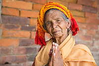 Old Lady Praying at Pashupatinath, Nepal