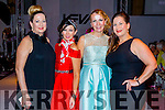 Mary Fitzgerald (Abbeyfeale), Mary Woulfe (Athea) with Jean Leahy and Shannon O'Connor (Abbeyfeale), attending the KFW Irish Fashion Industry Awards at the Europe Hotel, Killarney on Friday night