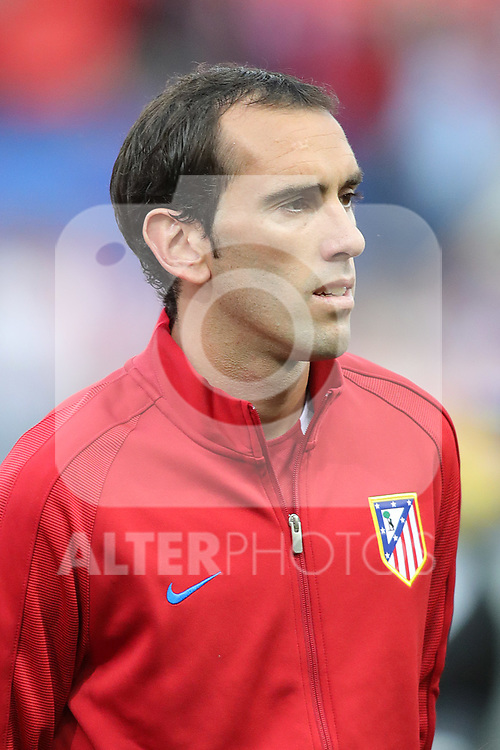 Atletico de Madrid's Diego Godin during Champions League 2016/2017 Quarter-finals 1st leg match. April 12,2017. (ALTERPHOTOS/Acero)