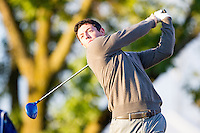 Rory McIlroy (Team Europe) on the 2nd tee during the Saturday morning Foursomes at the Ryder Cup, Hazeltine national Golf Club, Chaska, Minnesota, USA.  01/10/2016<br /> Picture: Golffile | Fran Caffrey<br /> <br /> <br /> All photo usage must carry mandatory copyright credit (&copy; Golffile | Fran Caffrey)