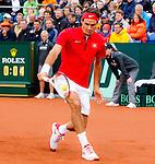 Nederland, Amsterdam, 14 september  2012.Seizoen 2012/2013.Davis_Cup.Nederland_Zwitserland.Roger Federer in actie met de bal