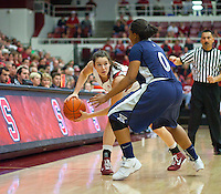 STANFORD, CA - December 28, 2010: Sara James of the Stanford Cardinal women's basketball team during Stanford's game against the Xavier Musketeers at Maples Pavilion. Stanford won 89-52.