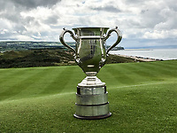 The North Of Ireland Trophy on display during quarter final at the North of Ireland Amateur Championship, Portstewart Golf Club, Portstewart, Antrim,  Ireland. 11/07/2019<br /> Picture: Golffile | Fran Caffrey<br /> <br /> <br /> All photo usage must carry mandatory copyright credit (© Golffile | Fran Caffrey)