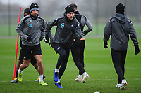 Mike van der Hoorn of Swansea City in action during the Swansea City Training at The Fairwood Training Ground, Swansea, Wales, UK. Friday 15 March 2019