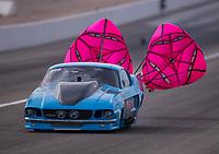 Oct 30, 2016; Las Vegas, NV, USA; NHRA pro mod driver Michael Biehle III during the Toyota Nationals at The Strip at Las Vegas Motor Speedway. Mandatory Credit: Mark J. Rebilas-USA TODAY Sports