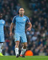 Pablo Zabaleta of Manchester City during the UEFA Champions League GROUP match between Manchester City and Celtic at the Etihad Stadium, Manchester, England on 6 December 2016. Photo by Andy Rowland.