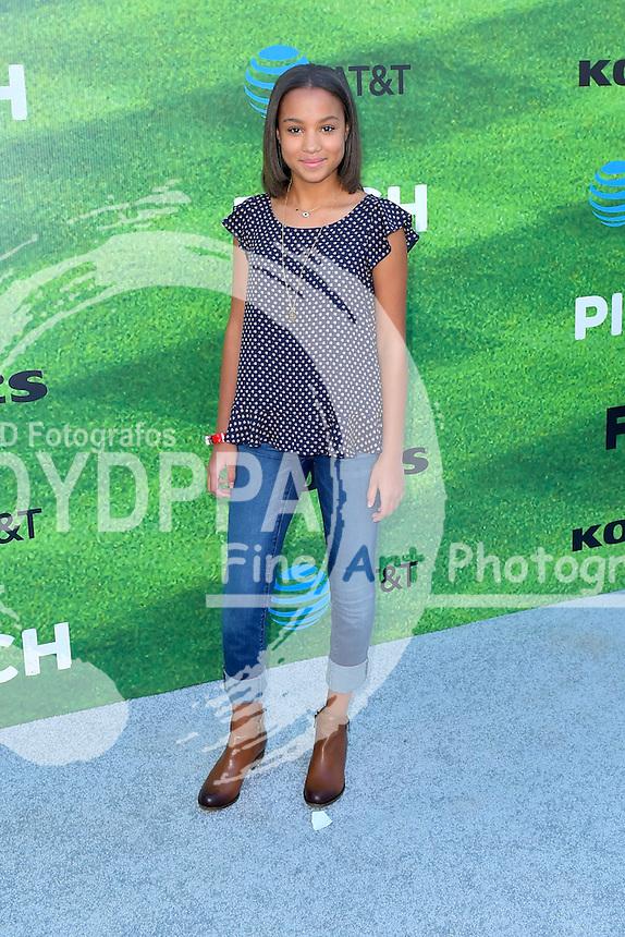 Corrine Massiah bei der Premiere der FOX TV-Serie 'Pitch' auf dem West LA Little League Field. Los Angeles, 13.09.2016