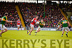 Peter Crowley Kerry in action against Mark Collins Cork in the National Football league in Austin Stack Park, Tralee on Sunday.