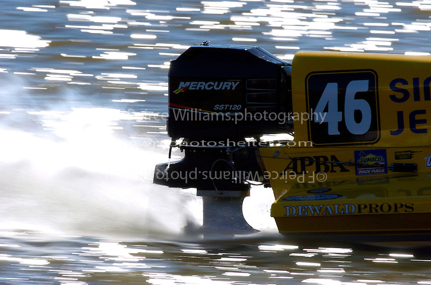 2004 Bay City River Roar, Bay City, MI USA 26-27 June, 2004.Mercury engine on Kris Shepard's SST-120 class boat...F.Peirce Williams .photography.P.O.Box 455  Eaton,OH 45320 USA.p: 317.358.7326  e: fpwp@mac.com