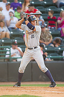 Aaron Judge (35) of the Charleston RiverDogs at bat against the Hickory Crawdads at L.P. Frans Stadium on May 24, 2014 in Hickory, North Carolina.  The Crawdads defeated the RiverDogs 7-3.  (Brian Westerholt/Four Seam Images)