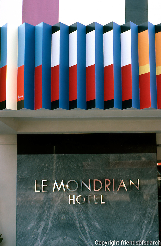 Los Angeles:  Le Mondrian Hotel. Yaacov Agam. Photo '85.