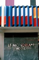 Los Angeles:  Le Mondrian Hotel. Yaacov Agam. Photo '85.
