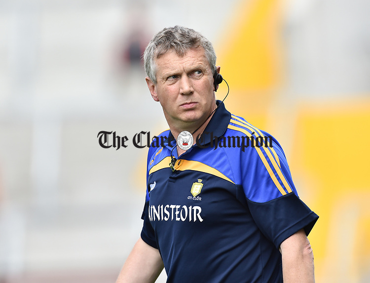 Donal Moloney, Clare joint manager, before their All-Ireland quarter final against Wexford at Pairc Ui Chaoimh. Photograph by John Kelly.