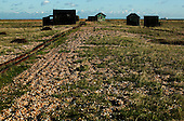 Wooden Huts on Dungeness Beach