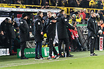05.02.2019, Signal Iduna Park, Dortmund, GER, DFB-Pokal, Achtelfinale, Borussia Dortmund vs Werder Bremen<br /> <br /> DFB REGULATIONS PROHIBIT ANY USE OF PHOTOGRAPHS AS IMAGE SEQUENCES AND/OR QUASI-VIDEO.<br /> <br /> im Bild / picture shows<br /> Florian Kohfeldt (Trainer SV Werder Bremen) ver&auml;rgert / emotional in Coachingzone / an Seitenlinie nach 3:2 F&uuml;hrung f&uuml;r Dortmund, Kohfeldt wirft seinen Kaugummi aufs Spielfeld, <br /> <br /> Foto &copy; nordphoto / Ewert