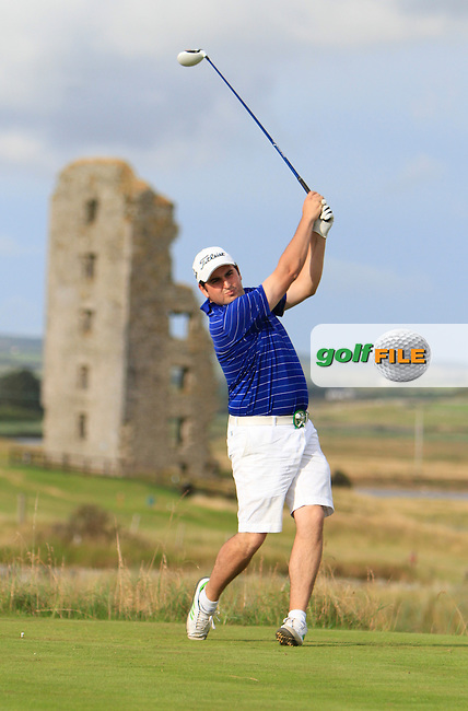 John Greene (Portmarnock) on the 13th tee during the South of Ireland Amateur Open Championship Second Round at Lahinch Golf Club  28th July 2013 <br /> Picture:  Thos Caffrey / www.golffile.ie