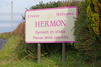 Hermon in Carmarthenshire, Wales, UK. Wednesday 31 October 2018