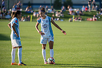 Kansas City, MO - Sunday May 07, 2017: Marta Vieira Da Silva, Kristen Edmonds during a regular season National Women's Soccer League (NWSL) match between FC Kansas City and the Orlando Pride at Children's Mercy Victory Field.