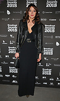 Diane Morgan at the Broadcast Awards 2018, Grosvenor House Hotel, Park Lane, London, England, UK, on Wednesday 07 February 2018.<br /> <br /> CAP/CAN<br /> &copy;CAN/Capital Pictures