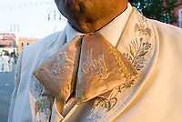 Detailed embroidery on a Mariachi's outfit in Plaza Garibaldi where Mariachis gather to be hired in Mexico City, Friday, Jan. 4, 2008