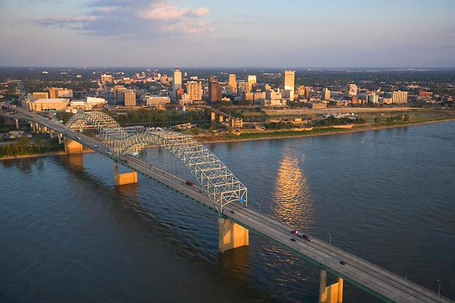 Hernando Desoto Bridge and Memphis skyline