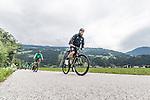 09.07.2019, Zell am Ziller, AUT, TL Werder Bremen Zell am Ziller / Zillertal Tag 05<br /> <br /> im Bild<br /> Florian Kohfeldt (Trainer SV Werder Bremen), <br /> auf Mountainbike bei Radtour im Zillertal <br /> <br /> Foto © nordphoto / Ewert