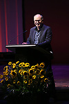 James Lapine during the Celebrate the Life of Marin Mazzie Memorial Service at the Gershwin Theatre on October 25, 2018 in New York City.