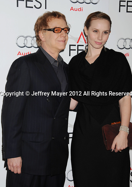 HOLLYWOOD, CA - NOVEMBER 01: Danny Elfman and Mali Elfman arrive at the opening night gala premiere of 'Hitchcock' during the 2012 AFI FEST at Grauman's Chinese Theatre on November 1, 2012 in Hollywood, California.
