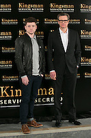 "Colin Firth and Taron Egerton attend the ""Kingsman"" Movie Presentation at Villa Magna Hotel, Madrid,  Spain. February 06, 2015.(ALTERPHOTOS/)Carlos Dafonte) /NORTEphoto.com"