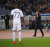 5th December 2017, Stadio Olimpic, Rome, Italy; UEFA Champions league football, AS Roma versus Qarabağ FK; Coach AS Roma Eusebio Di Francesco