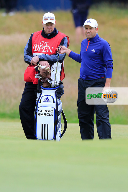 Sergio Garcia (ESP) at the 17th green during Monday's Final Round of the 144th Open Championship, St Andrews Old Course, St Andrews, Fife, Scotland. 20/07/2015.<br /> Picture Eoin Clarke, www.golffile.ie