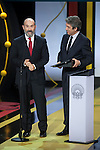Javier Camara and Ricardo Darin receive the Silver Shell Award for Best Actor during the official ceremony of the 63rd Donostia Zinemaldia Festival (San Sebastian International Film Festival) in San Sebastian, Spain. September 26, 2015. (ALTERPHOTOS/Victor Blanco)