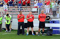 Boyds, MD - Saturday June 03, 2017: Houston Dash, Omar Morales during a regular season National Women's Soccer League (NWSL) match between the Washington Spirit and Houston Dash at Maureen Hendricks Field, Maryland SoccerPlex.