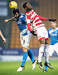 St Johnstone v Hamilton Accies…28.01.17     SPFL    McDiarmid Park<br />Richie Foster and Rakish Bingham<br />Picture by Graeme Hart.<br />Copyright Perthshire Picture Agency<br />Tel: 01738 623350  Mobile: 07990 594431