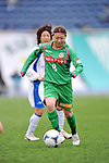 Yayoi Kobayashi (Beleza), .APRIL 22, 2012 - Football/Soccer : 2012 Plenus Nadeshiko League,2nd sec match between NTV Beleza 3-0 AS Elfen Sayama FC at Komazawa Olympic Park Stadium, Tokyo, Japan. (Photo by Jun Tsukida/AFLO SPORT) [0003]